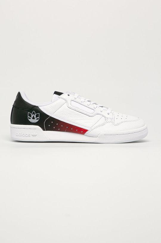 bílá adidas Originals - Kožené boty Continental 80 Pánský