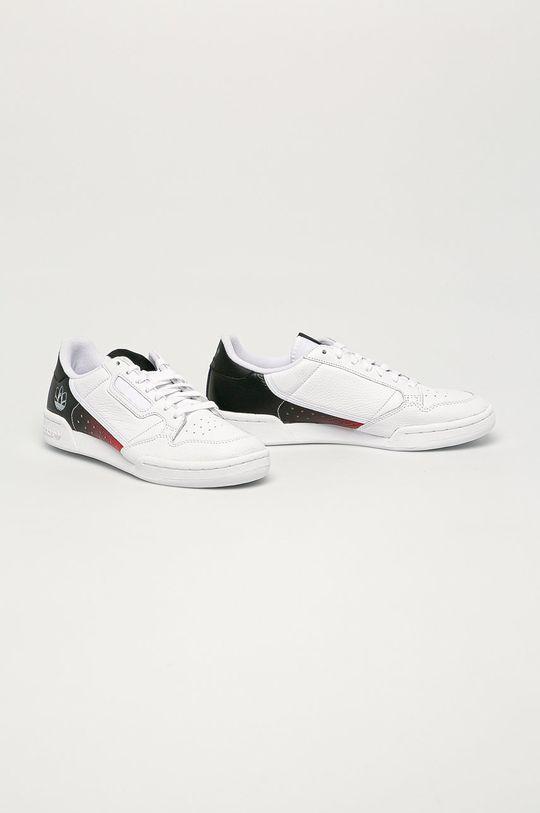adidas Originals - Kožené boty Continental 80 bílá