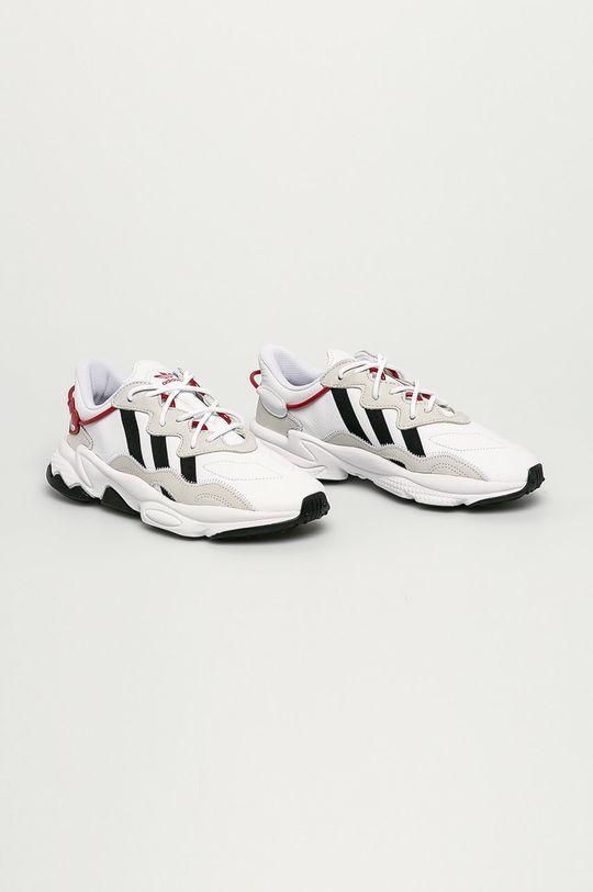 adidas Originals - Kožené boty Ozweego bílá