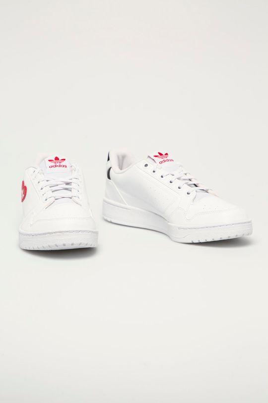adidas Originals - Kožené boty NY 90 bílá