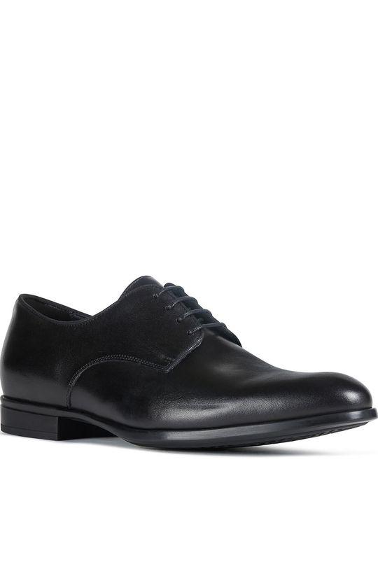 Geox - Pantofi de piele negru