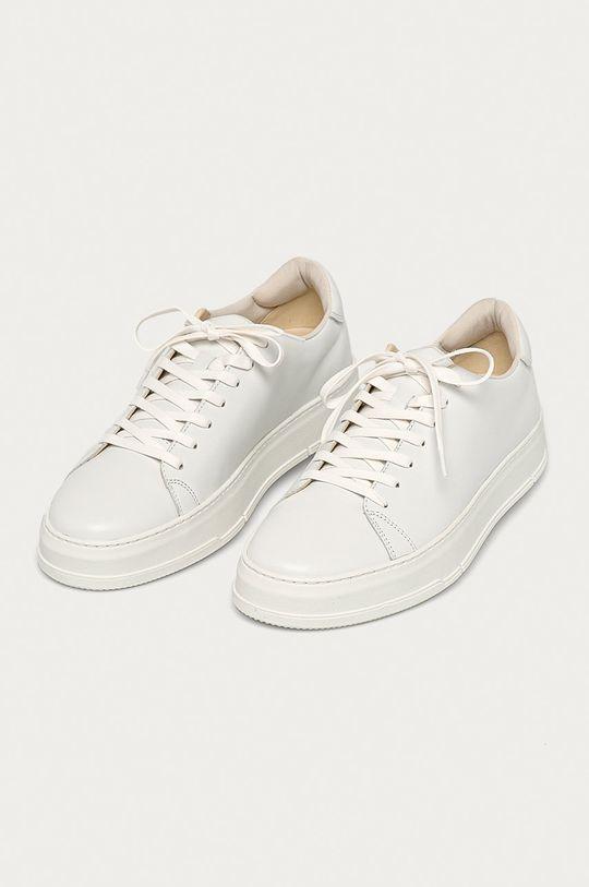 Vagabond - Kožená obuv John biela