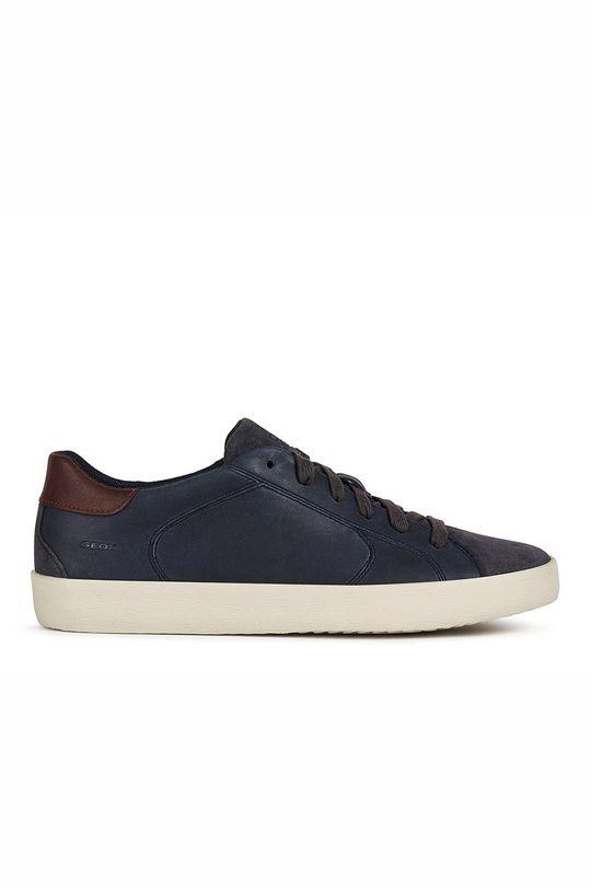 námořnická modř Geox - Kožené boty WARLEY Pánský