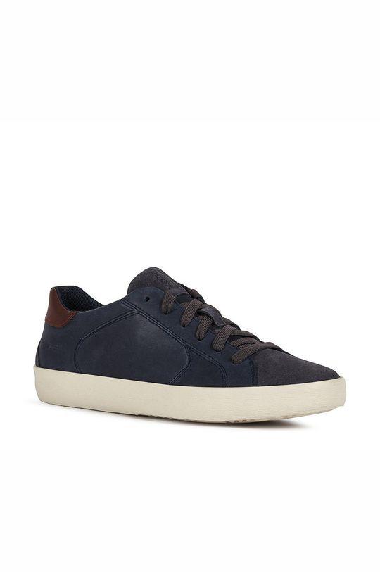 Geox - Kožené boty WARLEY námořnická modř