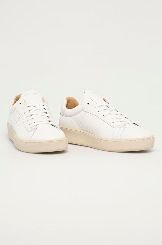 Gant - Kožené boty Leville bílá