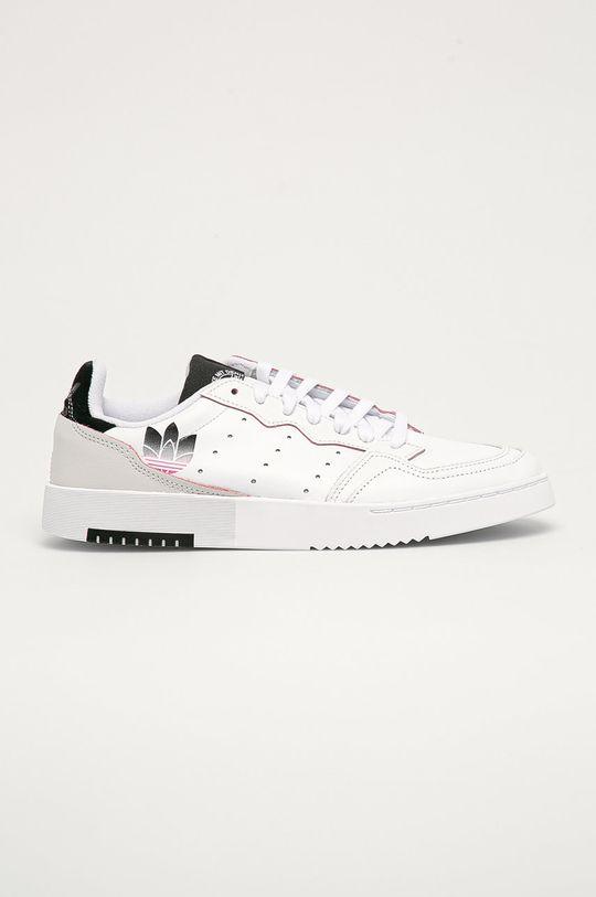 bílá adidas Originals - Kožené boty Supercourt Pánský