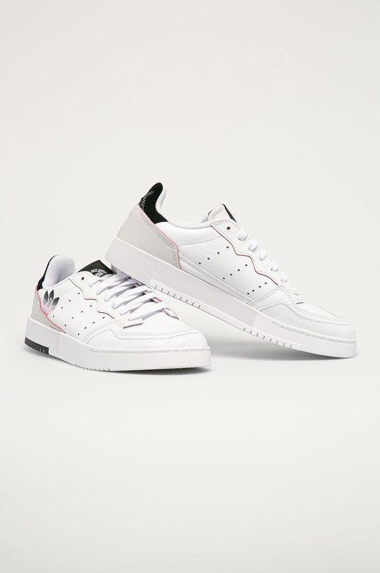 adidas Originals - Kožené boty Supercourt bílá