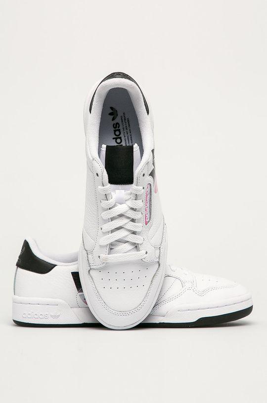 bílá adidas Originals - Kožené boty Continental 80