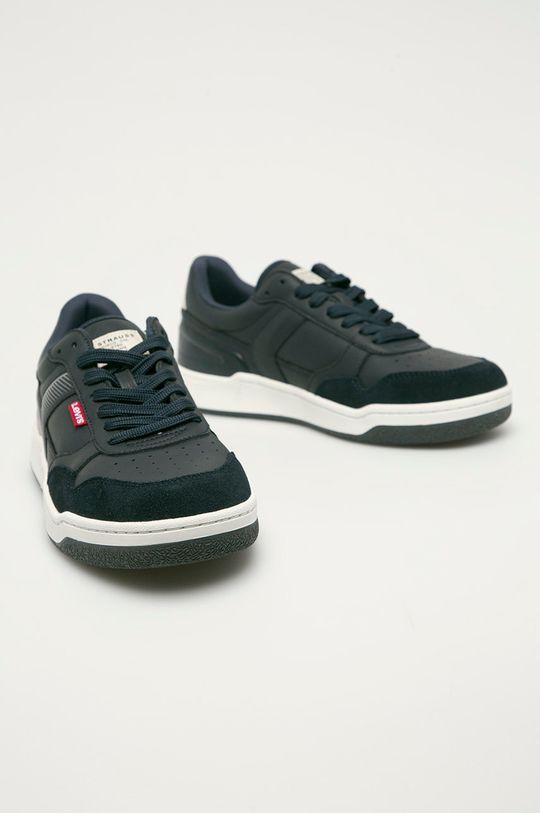 Levi's - Kožené boty námořnická modř