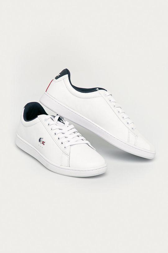 Lacoste - Kožené boty Carnaby Evo TRI1 bílá