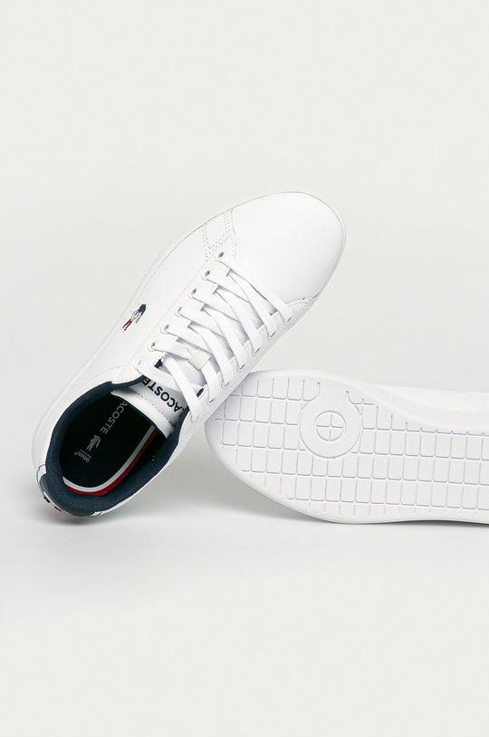 bílá Lacoste - Kožené boty Carnaby Evo TRI1