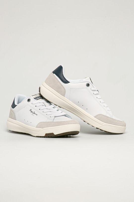 Pepe Jeans - Buty skórzane Slate Pro Basic biały