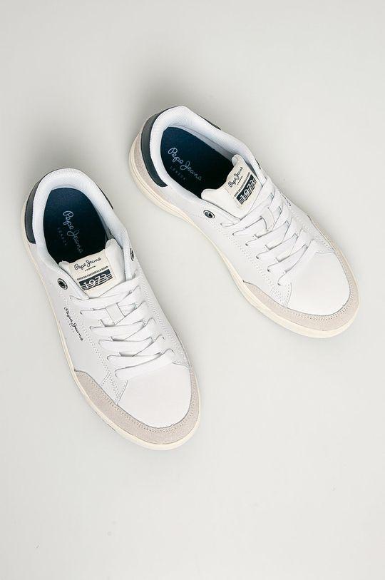 biały Pepe Jeans - Buty skórzane Slate Pro Basic