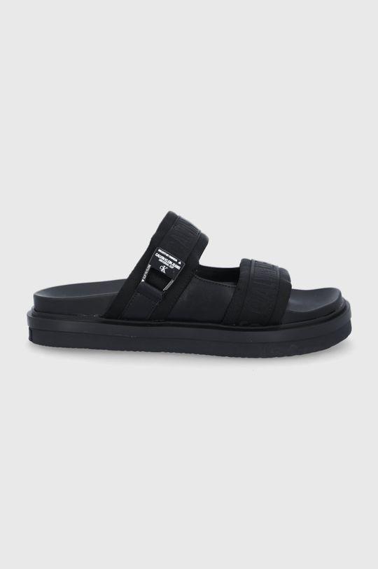čierna Calvin Klein Jeans - Šľapky Pánsky