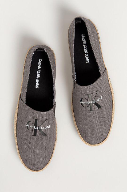 szary Calvin Klein Jeans - Espadryle