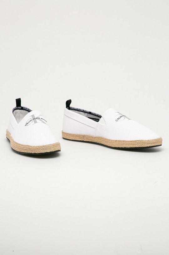 Calvin Klein Jeans - Espadrilky biela