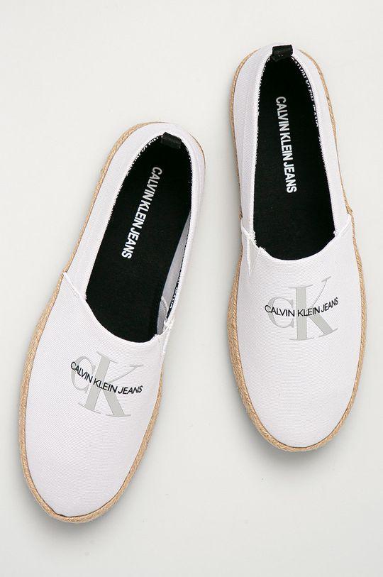 biela Calvin Klein Jeans - Espadrilky