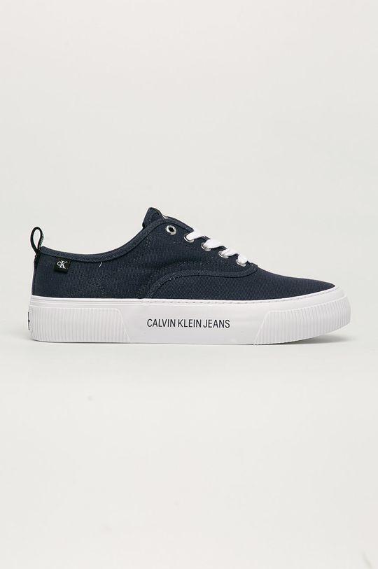granatowy Calvin Klein Jeans - Tenisówki Męski