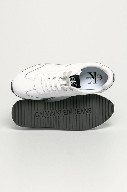 alb Calvin Klein Jeans - Ghete de piele