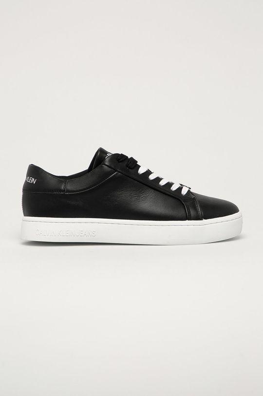 czarny Calvin Klein Jeans - Buty skórzane Męski
