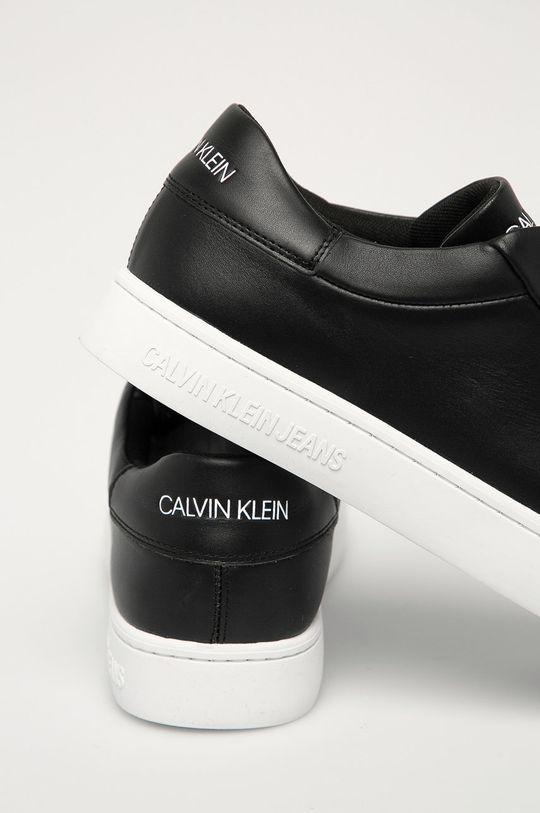 Calvin Klein Jeans - Buty skórzane Cholewka: Skóra naturalna, Wnętrze: Materiał tekstylny, Skóra naturalna, Podeszwa: Materiał syntetyczny