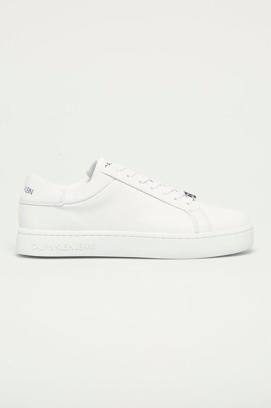 bílá Calvin Klein Jeans - Kožené boty Pánský