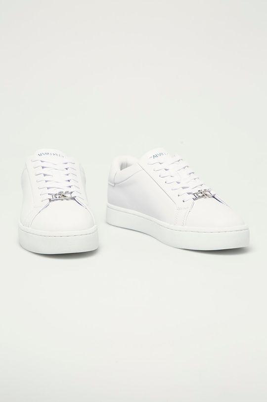 Calvin Klein Jeans - Kožené boty bílá