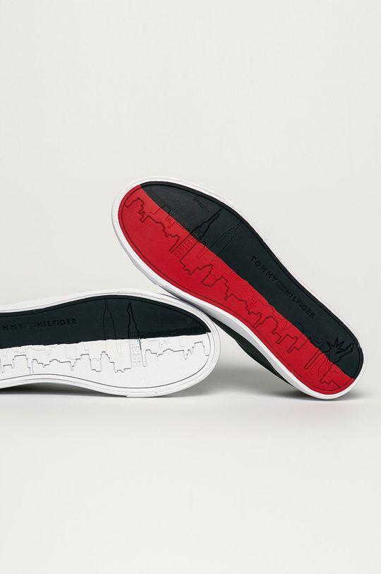 námořnická modř Tommy Hilfiger - Kožené boty