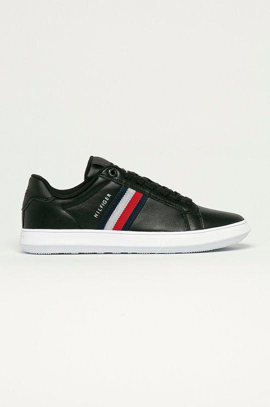 čierna Tommy Hilfiger - Kožená obuv Pánsky
