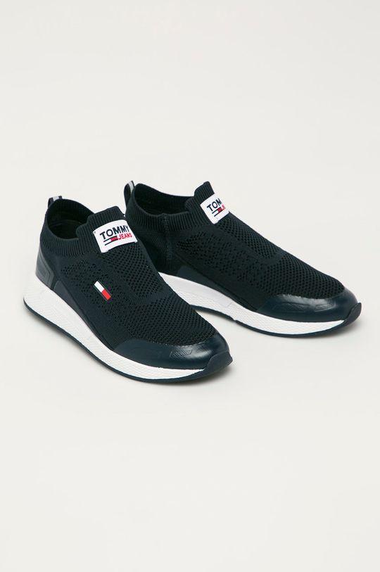 Tommy Jeans - Topánky tmavomodrá