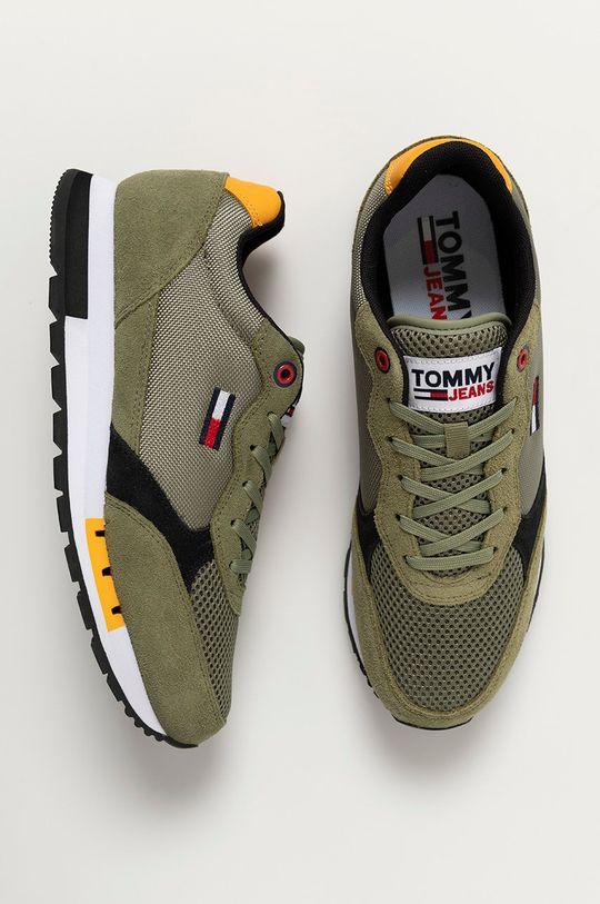 zelená Tommy Jeans - Topánky
