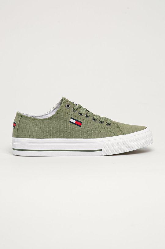 žlto-zelená Tommy Jeans - Tenisky Pánsky
