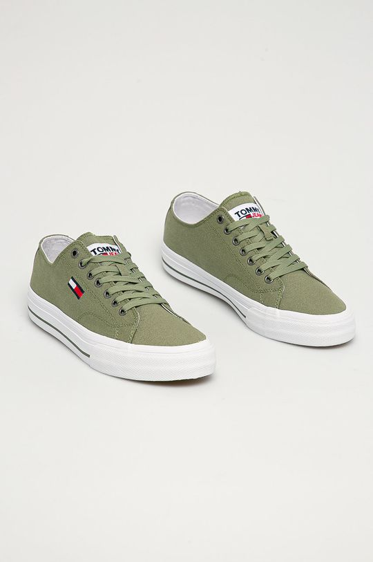 Tommy Jeans - Tenisky žlto-zelená