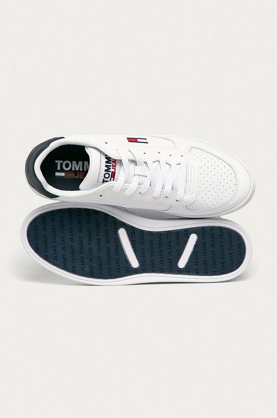 bílá Tommy Jeans - Kožené boty
