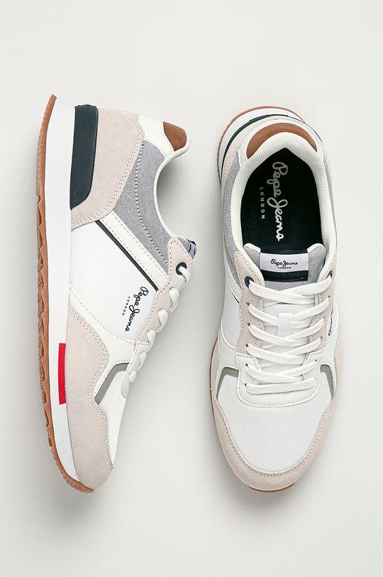 alb Pepe Jeans - Pantofi Cross