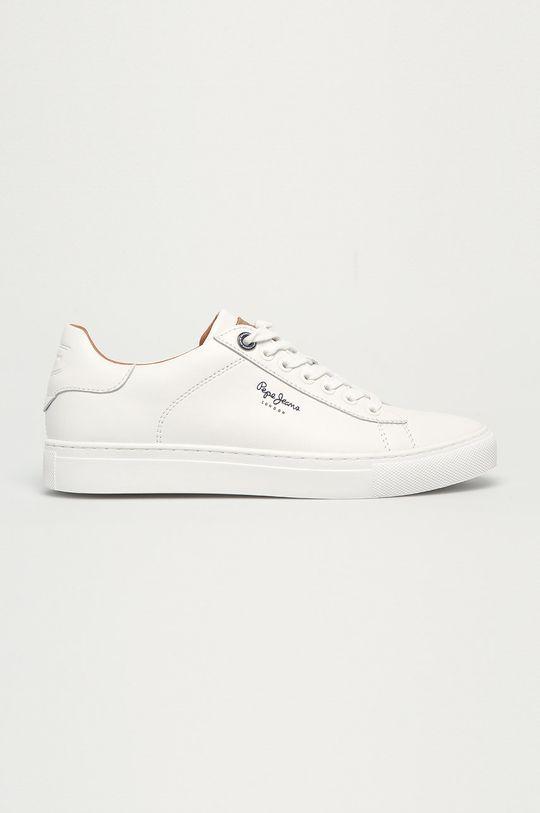 biały Pepe Jeans - Buty skórzane Joe Cup Męski