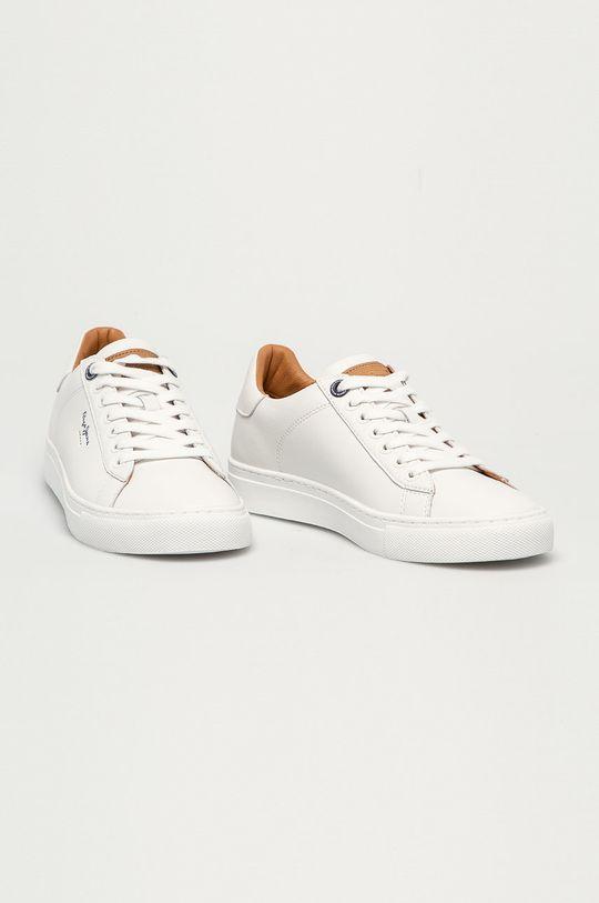Pepe Jeans - Buty skórzane Joe Cup biały