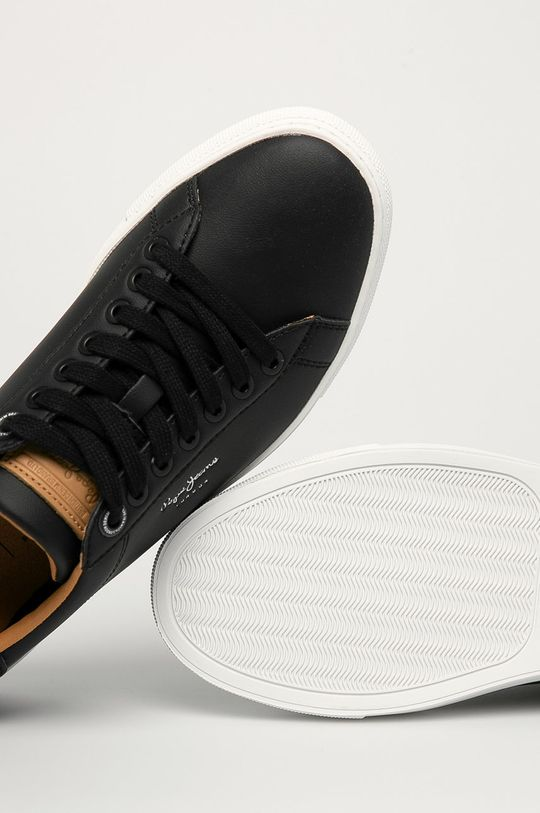 čierna Pepe Jeans - Kožená obuv Joe Cup