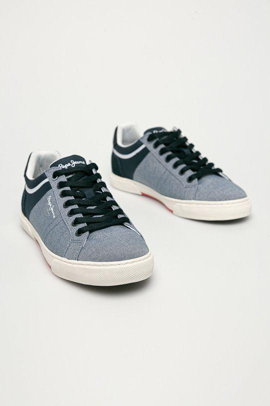 Pepe Jeans - Buty Rodney Chambray niebieski