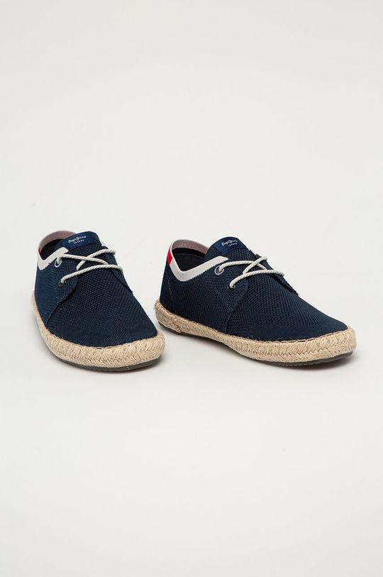 Pepe Jeans - Espadrilky Tourist Sailor Knit námořnická modř