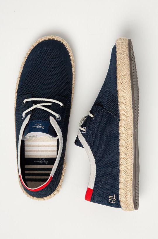 námořnická modř Pepe Jeans - Espadrilky Tourist Sailor Knit