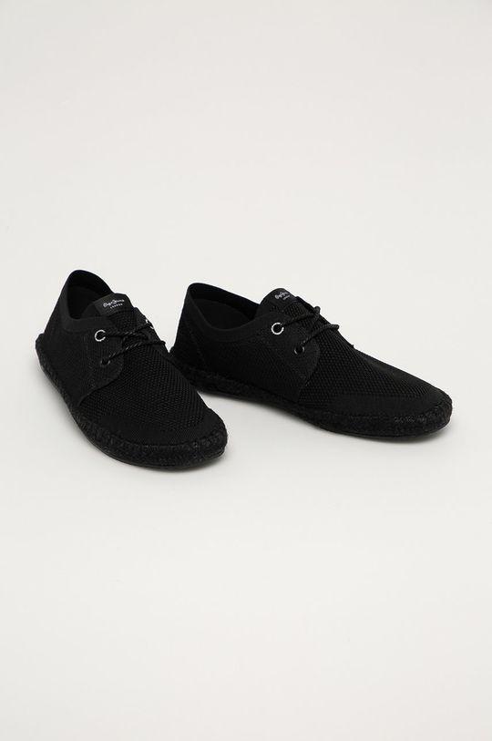 Pepe Jeans - Espadrilky Tourist Sailor Knit černá