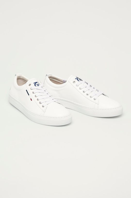 U.S. Polo Assn. - Kožená obuv biela