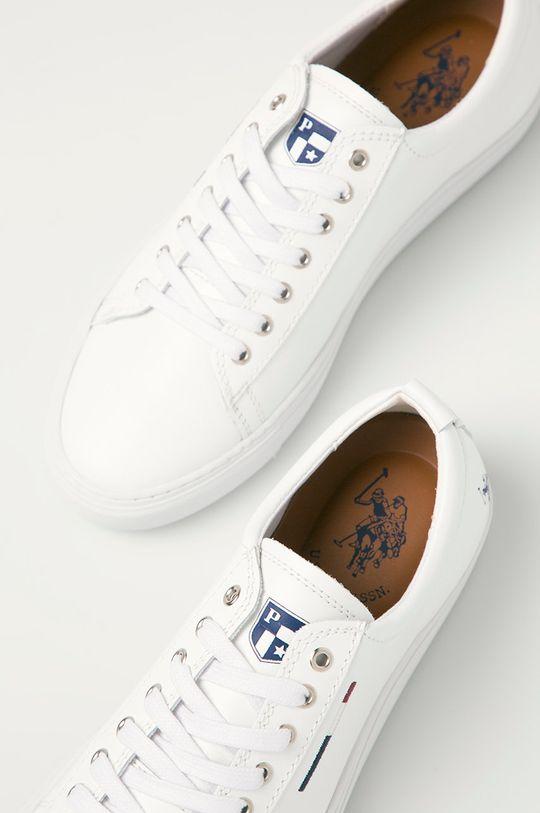biela U.S. Polo Assn. - Kožená obuv