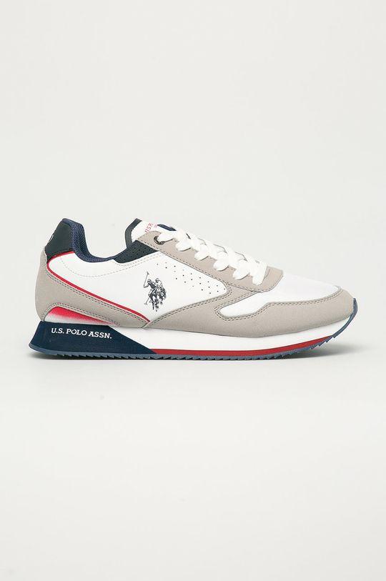 biela U.S. Polo Assn. - Topánky Pánsky