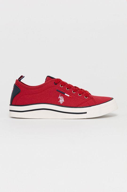 czerwony U.S. Polo Assn. - Tenisówki Męski