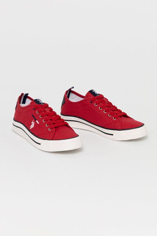 U.S. Polo Assn. - Tenisówki czerwony