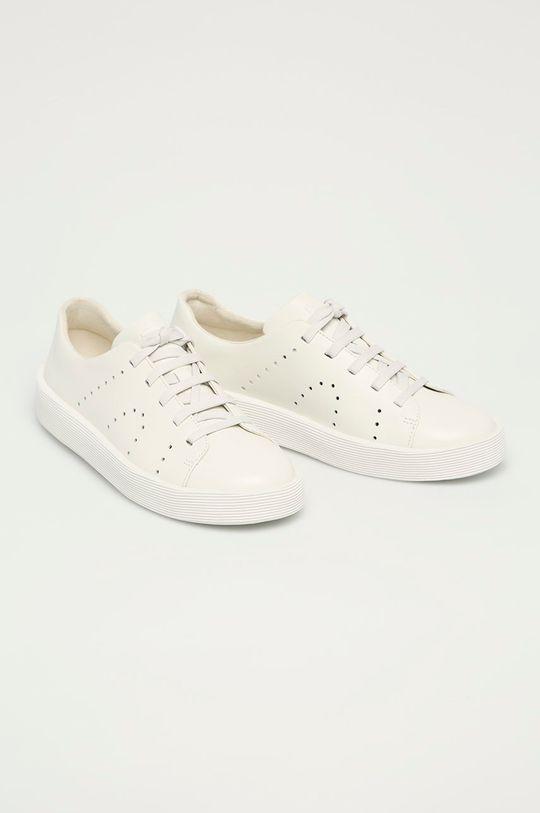 Camper - Kožené boty Courb bílá