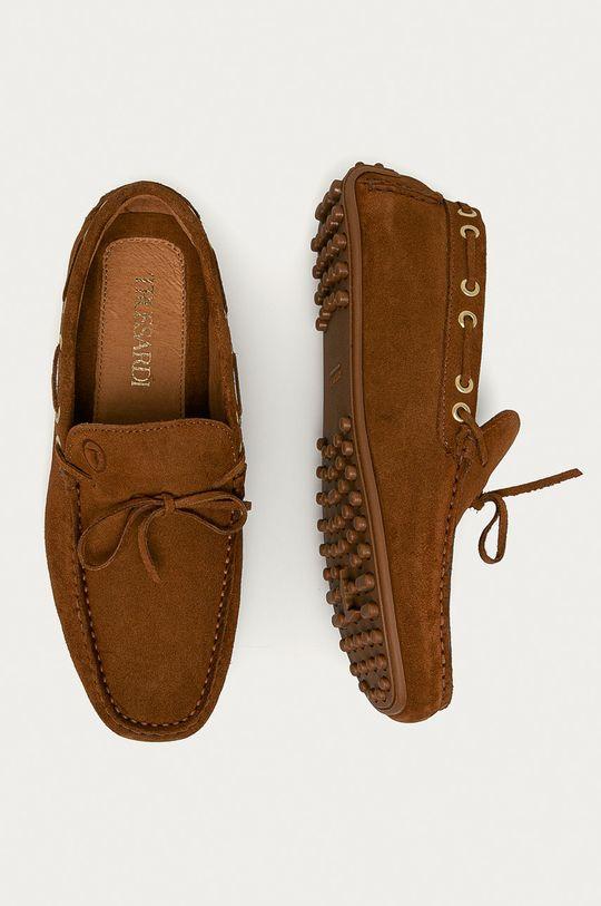 Trussardi Jeans - Semišové mokasíny hnedá