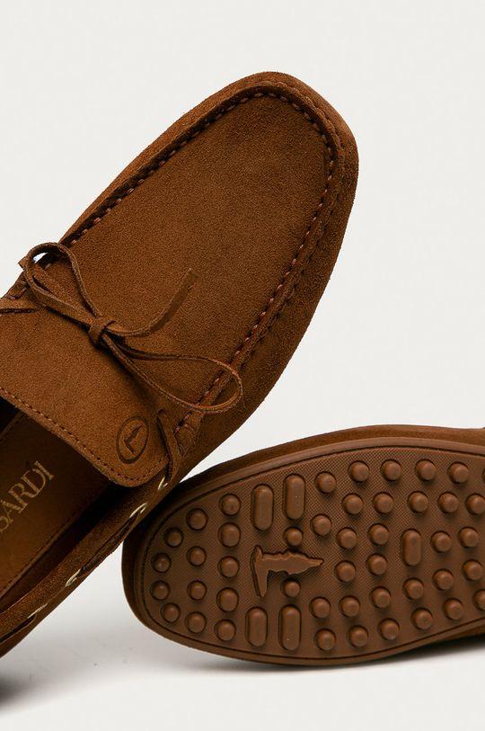 hnedá Trussardi Jeans - Semišové mokasíny